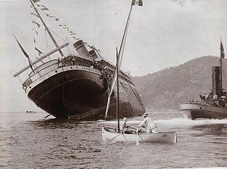 22 settembre 1907: Affonda al varo il transatlantico Principessa Jolanda