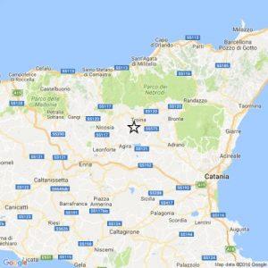 Terremoto di magnitudo 2.9 del 16-03-2017 ore 13:45 in provincia Enna (Gagliano-Agira)