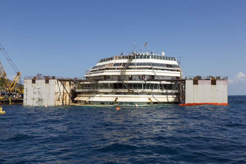 17 settembre 2013: Completato il parbuckling della Costa Concordia