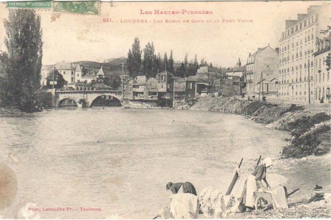 Rara foto antica di Lourdes