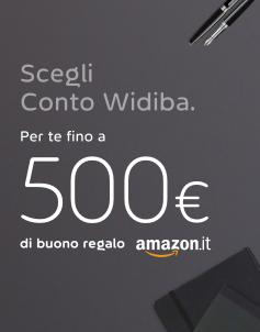 500€ in buoni Amazon con Widiba: Promozione Presenta un Amico