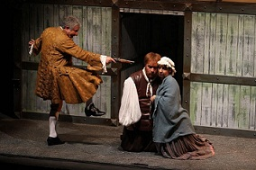 """Enrico Guarneri in """"La scuola delle mogli"""" di Molière al Teatro del Mela"""