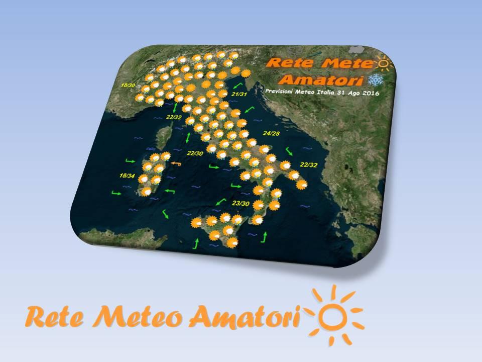 Previsioni Meteo Italia per il 28 Settembre 2016