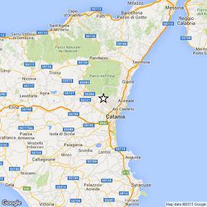 Provincia Catania, terremoto Ml 2.0 il 08-05-2016 ore 16:35