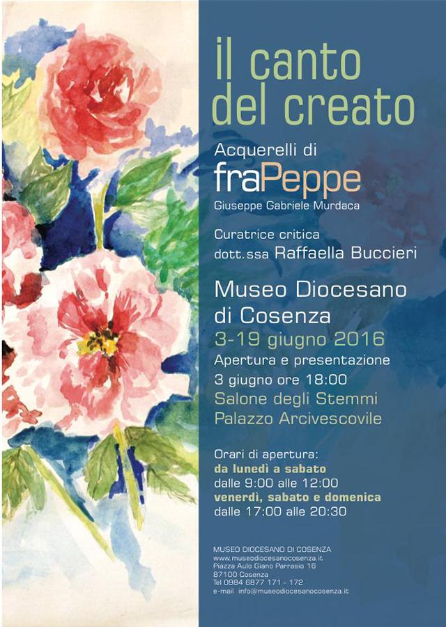 Museo diocesano di Cosenza presenta la mostra Il canto del creato di Fra Peppe