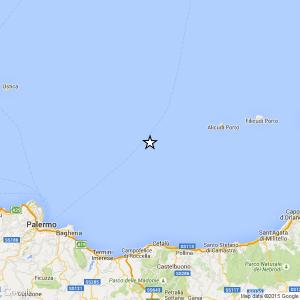 Sicilia, terremoto Ml 2.2 il 27-04-2016 ore 09:16 Tirreno Meridionale