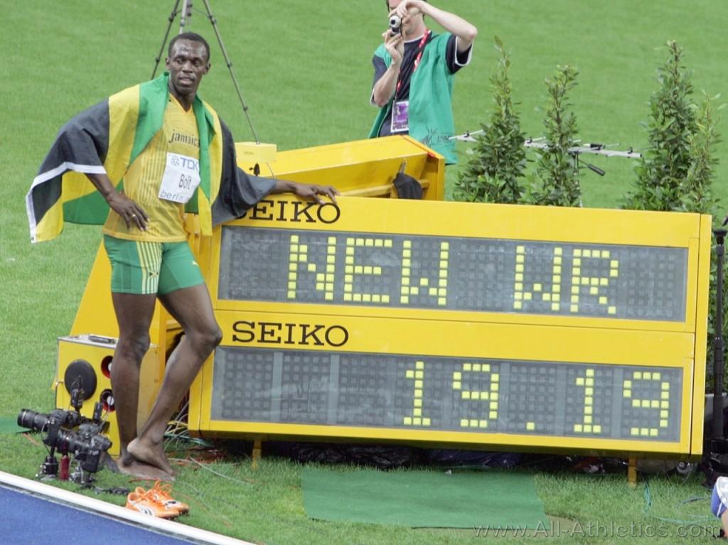 20 agosto 2009: Bolt vince i 200 metri ai mondiali di Berlino