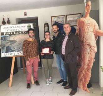 """Caltanissetta, premio """"Salvatore Rovello"""": secondo posto per i due ragazzi del Servizio civile della..."""