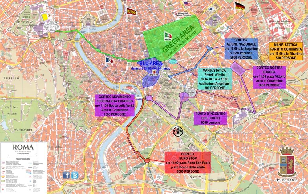 60° Trattati di Roma, massima allerta e capitale blindata