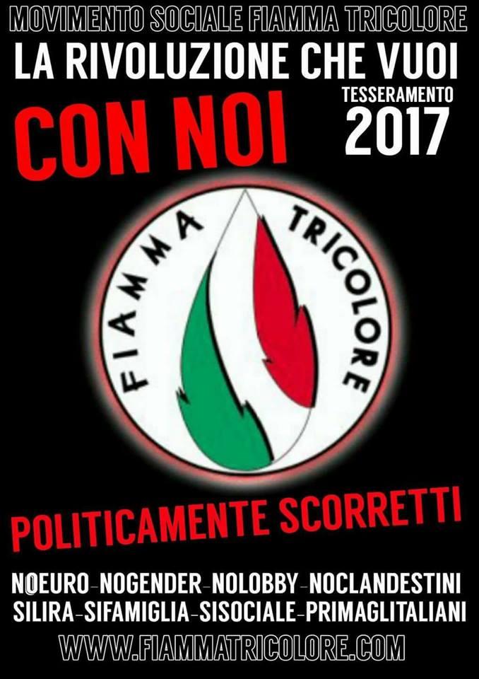 In corso il tesseramento del Movimento Sociale Fiamma Tricolore