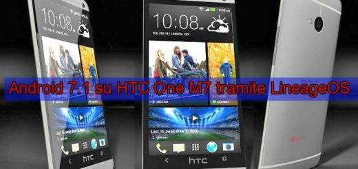 Android 7.1.1 Nougat per HTC One M7 tramite LineageOS