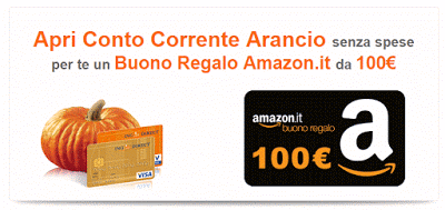 Ing Direct regala 100€ in Buoni Amazon