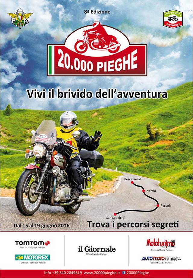 20.000 Pieghe 2016: Tutto è pronto, si romba dall'Abruzzo verso la Toscana