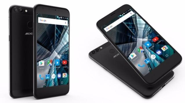Archos 50 e 55 Graphite, low cost con doppia postcamera e Android Nougat