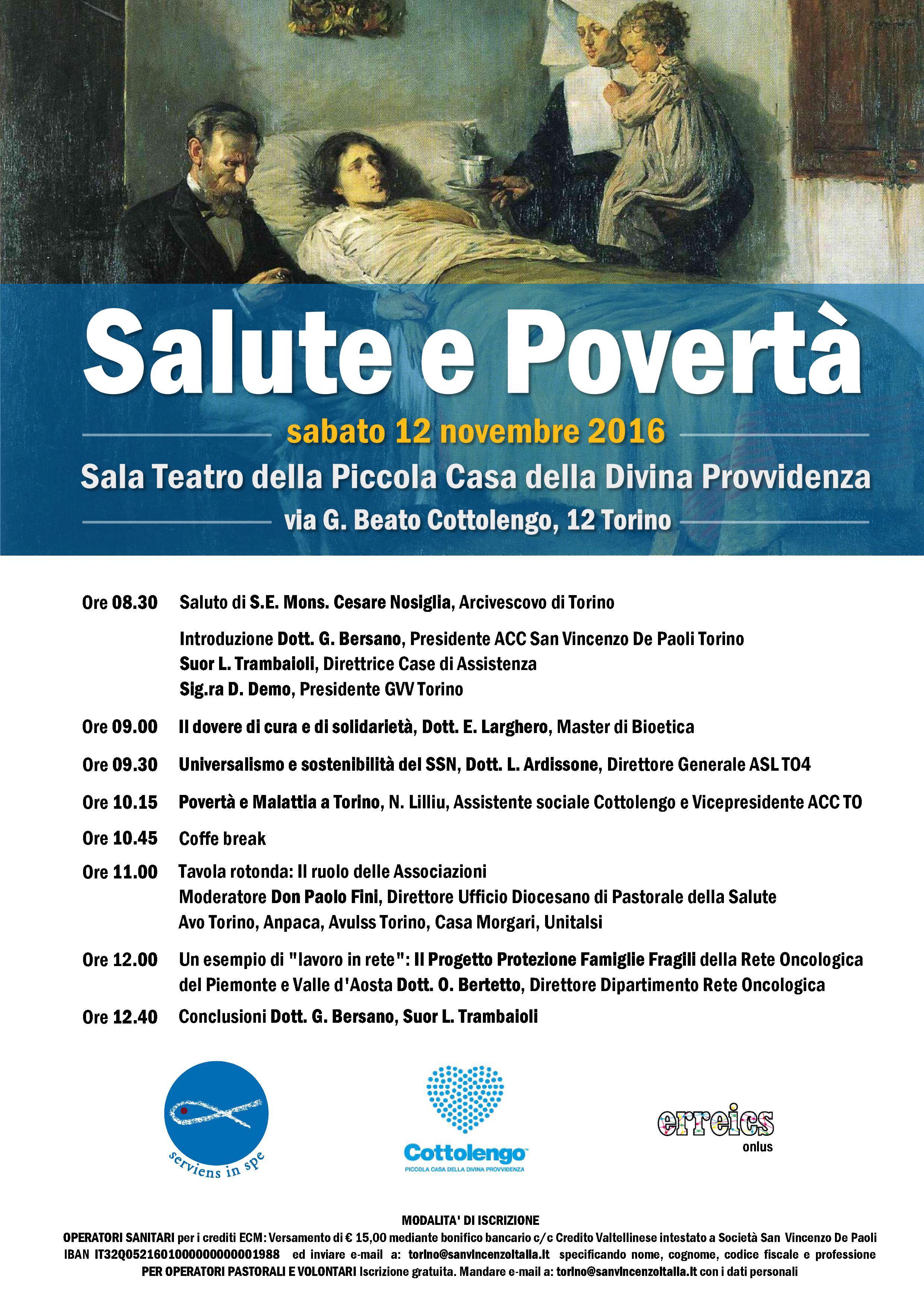 Salute e povertà: il 12 novembre il Convegno delle Conferenze di San Vincenzo De Paoli