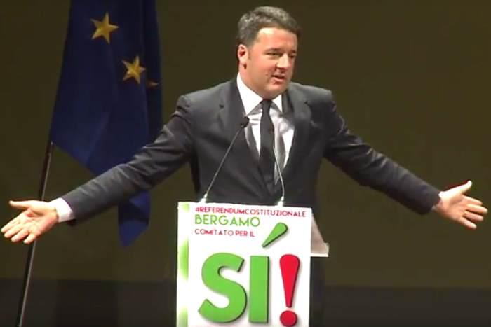 Renzi avvia la campagna per il Sì e parla di inciucio