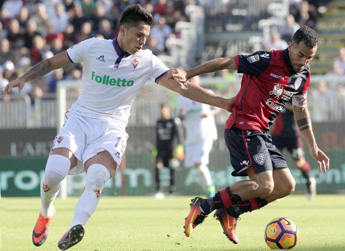 Grande calcio al Sant'Elia con la Fiorentina che batte il Cagliari per 5-3
