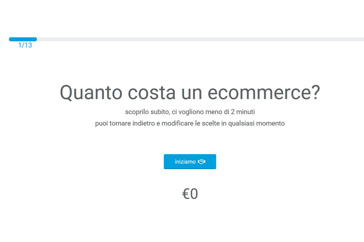Preventivo per un sito e-commerce...