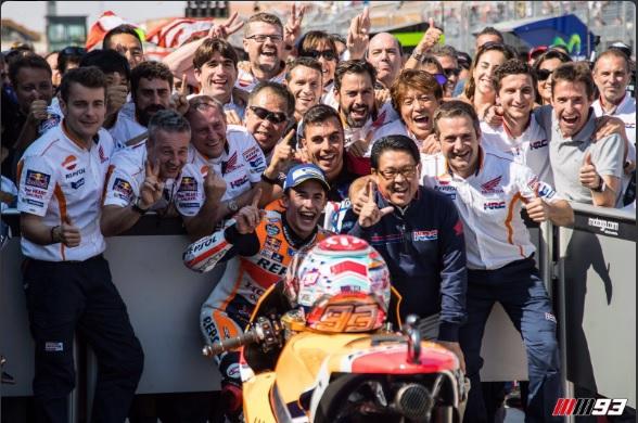 A Marquez il Gran Premio di Aragon, per Rossi la strada per il mondiale è ora in salita