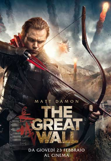 La recensione in anteprima del film THE GREAT WALL con Matt Damon