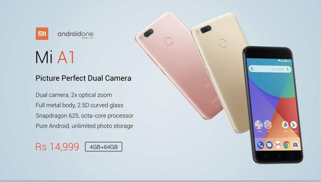 Xiaomi Mi A1: il primo smartphone Xiaomi con Android One