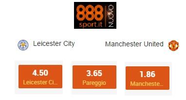 Supercoppa Inglese, Leicester-United: la vendetta di Mourinho a 1,86