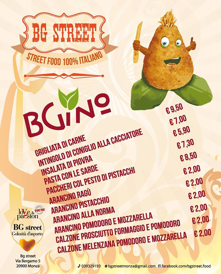 Primi e secondi da street food al BG Street