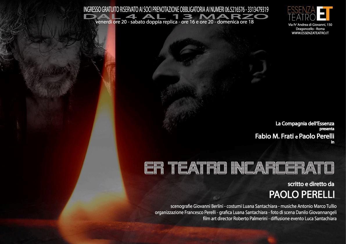 """""""ER TEATRO INCARCERATO"""" di Paolo Perelli"""